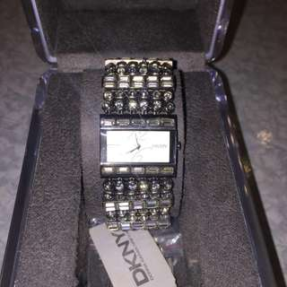 DKNY 閃石鋼錶 watch