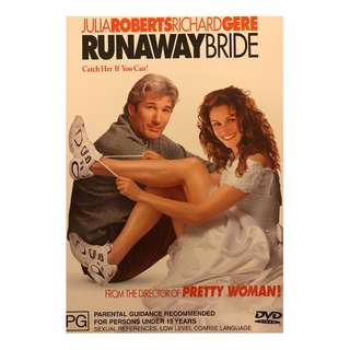 DVD - RUNAWAY BRIDE (ORIGINAL AUSTRALIA IMPORT CODE 4)