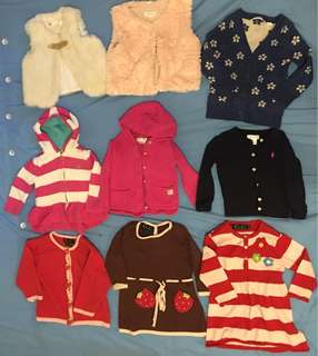 Winter baby girl clothes Ralph Lauren Oobi Country Road knit dress cardi vest jacket