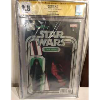 CGC SS 9.8 Star Wars Darth Maul #1 Darth Sidious Action Figure Variant Signed by John Tyler Christopher