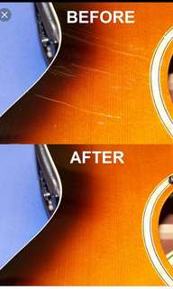 . Guitar bass Scratch scratches remover polish polishing compound for PU polyurethane/polyester finish..