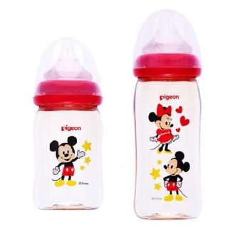 Pigeon Mickey Mouse Wide Neck PPSU Nursing Bottle 160ml/ 240ml