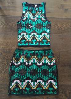 H&M sequined set (XS)