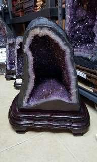36kg 钛晶紫水晶山 RUTILATED AMETHYST CAVE