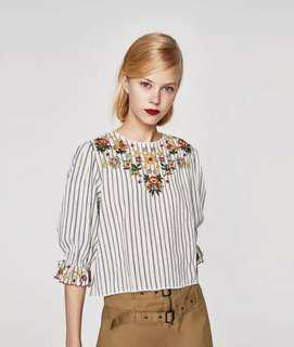 Zara Inspired Embroidered Top