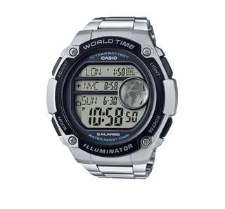 Men's Casio® AE3000WD-1AV Digital Watch - Silver