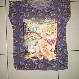 Blouse kalong batik meow