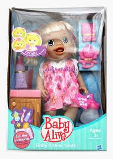 BABY ALIVE NEW TEETH Drink Pee DOLL TOYS