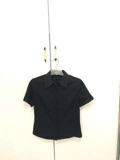Black Polo (Zipper)