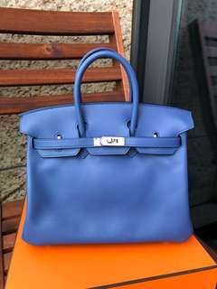 Hermes Birkin 25 Blue Brighton swift