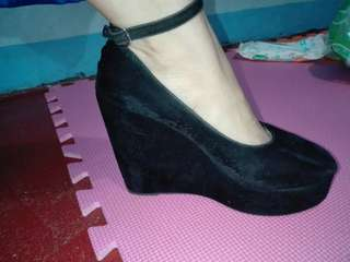 Wedge Black Shoes