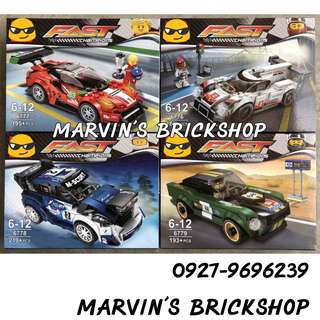 Latest Fast Champions Racing Cars Building Blocks Toys