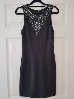 Forever New Black Embellished Dress Size 8
