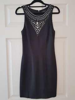Forever New Black Embellished Dress Size 8