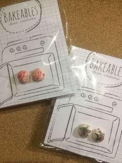 Icecream polymer earrings