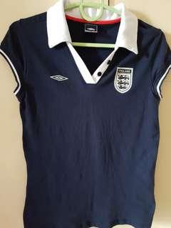 Umbro England women's football polo