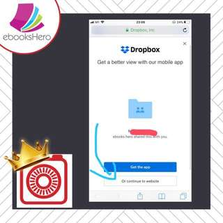 Tutorial: How to download eBook from Dropbox to phone