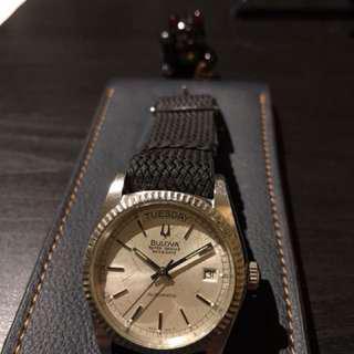 Bulova super Seville day date 寶路華 約37mm 懷舊鐘錶 罕有 已抹油機芯行走正常