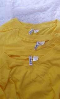 H&M Basic Tee Yellow