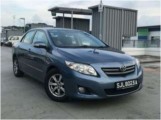 TOYOTA ALTIS RENT GRAB/PERSONAL/RYDE