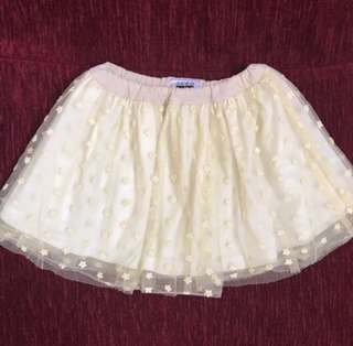 Seed yellow short skirt (6-7Y)
