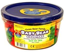🚚 Learning Resources LER 0729 Six-Color Baby Bear™ Counters, Set of 102 + 1 Laminated Hundred Board @ $30 only!!!