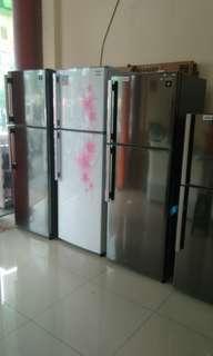 Cuci gudang kulkas 1 n 2 pintu merk SHARP murah