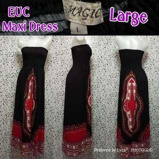 Black maxidress