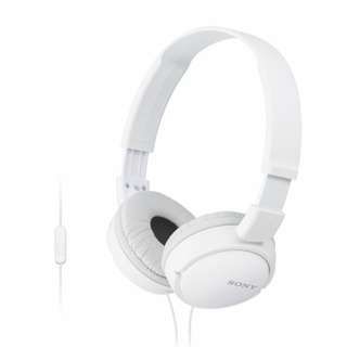 Sony MDR ZX110AP ON Ear Headphone  with MIC White Display unit
