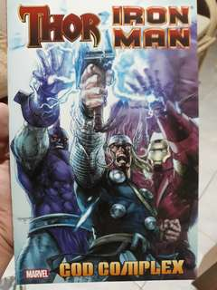 THOR IRON MAN GOD COMPLEX graphic novel/ comic book/ comics