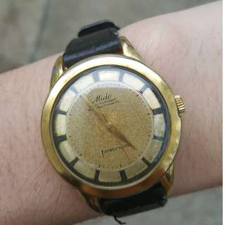 Vintage Mido watch Multifort Superautomatic Powerwind rare golden dial