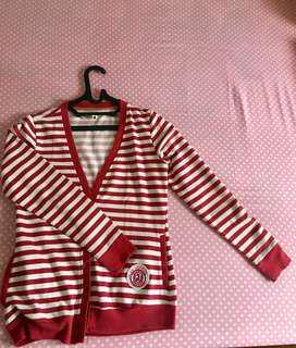 Red cardigan jaket top