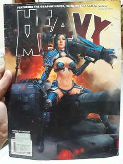 HEAVY METAL January 2012 Comic book graphic novel comics
