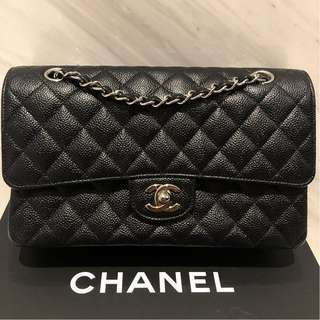 Chanel Classic Medium Double Flap Black Caviar with SHW