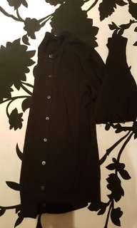 Muji black cardigan