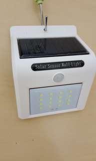 BN White Solar Motion Senor LED Light x 2