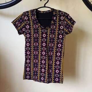 Printed Stretchable Shirt