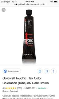 Goldwell Topchic Permanant Hair Color