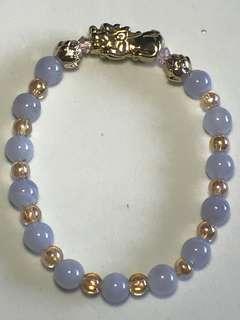 🚚 天然蓝玉髓貔貅手链
