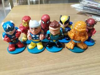 MARVEL SUPERHEROES featuring Iron Man, Spiderman, Capt America, Wolverine, Thing, Thor, Spidergirl, and Cyclops
