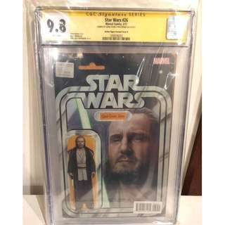 CGC SS 9.8 Star Wars #26 Qui-Gon Jinn Action Figure Variant Signed by John Tyler Christopher