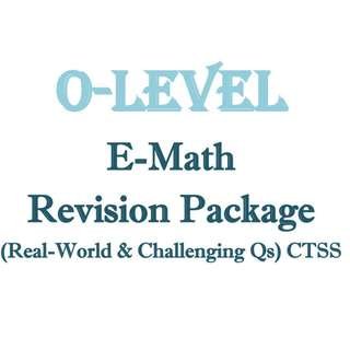 """2018 """"O"""" Maths Revision Package (""""Real World"""" and Challenging Qs) / Sec 3 / Sec 4 / Secondary 3 / Secondary 4 / Math / E Math / Mathematics / CTSS / Clementi Town / Exam Paper / Prelim Paper / 4048"""