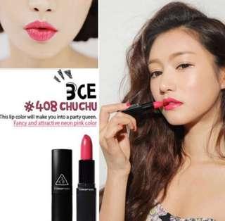 3CE Lipstick #408 Chu Chu