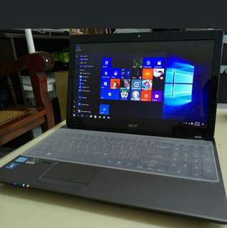 15.6 inch. Gaming Acer Core i3 4gb ram OS windows 10  500GB HDD