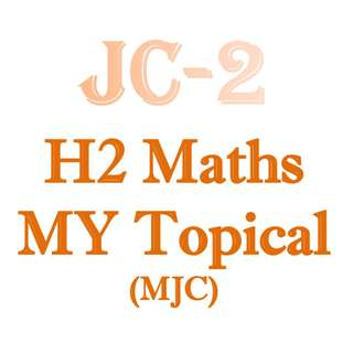 2018 MJC JC2 H2 Maths Mid Year Topical Revision / H2 Maths / H2 Math / H2 Mathematics / 9758 / New Syllabus / JC1 / JC2 / exam papers / Meridian Junior College / MJC