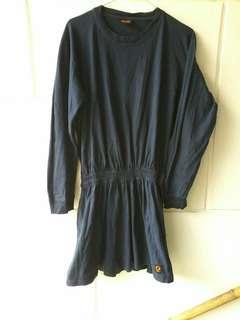 Long t shirt dark blue ladies