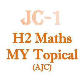 2018 AJC H2 Math Mid Year Revision Package / AJC MY Revision Package / H2 Math / 9758 / JC1 / AJC / Anderson Junior College / Promo Paper / exam paper / Lecture notes  / available
