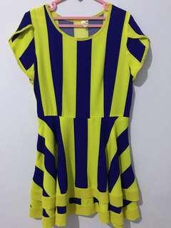 Dress Kuning Biru