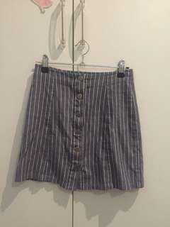 Denim striped skirt