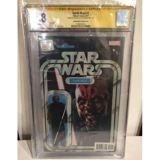 CGC SS 9.8 Star Wars Darth Maul #1 Darth Maul Action Figure Variant Signed by John Tyler Christopher